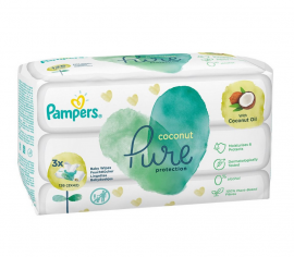 Pampers Coconut Pure Μωρομάντηλα (3x42) 126τμχ