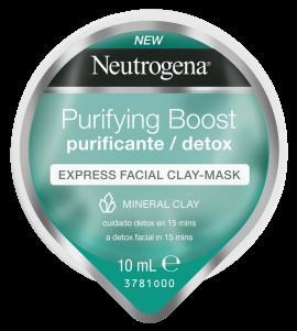 Neutrogena Purifying Boost Μάσκα Προσώπου Express σε Μορφή Κρέμας με Άργιλο 10ml