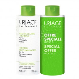 Uriage Duo Eau Micellaire Thermale PM/Oily Skin 2X500ml