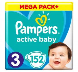 Pampers Active Baby No3 (6-10 kg) 152Πάνες