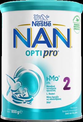 Nestle Nan 2 Optipro Γάλα 2ης Βρεφικής Ηλικίας σε Σκόνη από τον 6ο Μήνα 800gr