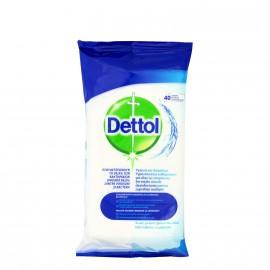 Dettol Αντιβακτηριδιακά Υγρά Πανάκια Καθαρισμού για Όλες τις Επιφάνειες 40τμχ