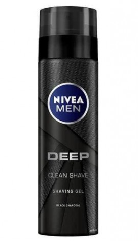 NIVEA MEN Deep Clean Shaving Gel 200ml 1+1 Δώρο