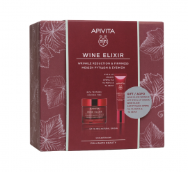 Apivita Set Wine Elixir Wrinkle & Firmness Lift Cream Rich Texture 50ml + Δώρο Apivita Wine Elixir Wrinkle Lift Eye & Lip Cream 15ml