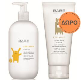 Babe Pediatric Bath Gel 500ml + ΔΩΡΟ Babe Pediatric Nappy Rash Cream-Κρέμα Αλλαγής Πάνας 100ml