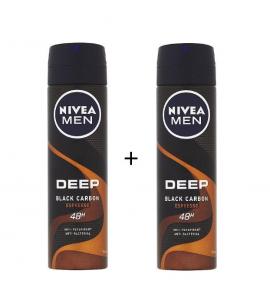Nivea Men Deep Black Carbon Espresso Spray 150ml 1+1 Δώρο