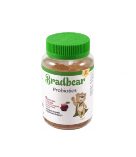 Bradex Bradbear Probiotics & Vitamin D Γεύση Μήλο 60 Gummy Bears