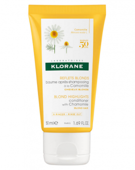 Klorane Blond Highlights Conditioner with Chamomile  Blond Hair 50ml