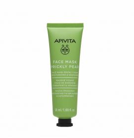 Apivita Face Mask Prickly Pear Μάσκα Προσώπου με Φραγκόσυκο για Ενυδάτωση & Καταπράϋνση 50ml