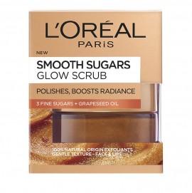LOreal Paris Smooth Sugars Glow Grapeseed Face And Lip Scrub 50ml