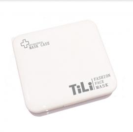Tili Θήκη Μεταφοράς και Αποθήκευσης Μάσκας Τετράγωνη Λευκή 1τμχ