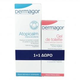 Dermagor Atopicalm Creme Emollient 250ml & Δώρο Dermagor Gel Surgras 200ml