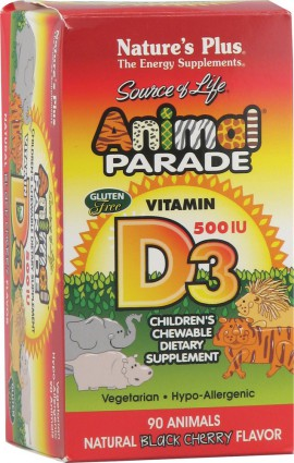 Natures Plus ANIMAL PARADE VITAMIN D3 90 TABS