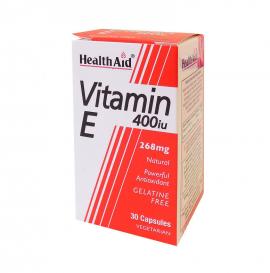 HEALTH AID VITAMIN E 400IU NATURAL VEGETARIAN CAPSULES 30S