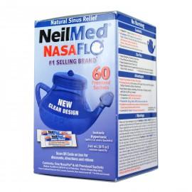 Neilmed Sinus Rinse 1 NasaFlo Netipot & 60 Premixed Packets