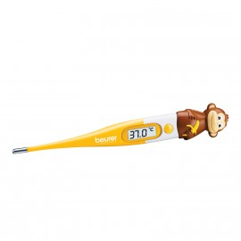 BEURER Ψηφιακό θερμόμετρο γρήγορης μέτρησης 10 sek,Με εύκαμπτη άκρη μέτρησης,Κατάλληλο για Βρέφη και παιδιά,Μεγάλης Ακρίβειας ΒΥ 11 Monkey
