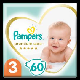 Pampers Premium Care Πάνες Μέγεθος 3 Midi 6-10 Kg 60 Πάνες