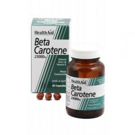 HEALTH AID BETA-CAROTENE NATURAL 15MG CAPSULES 30S