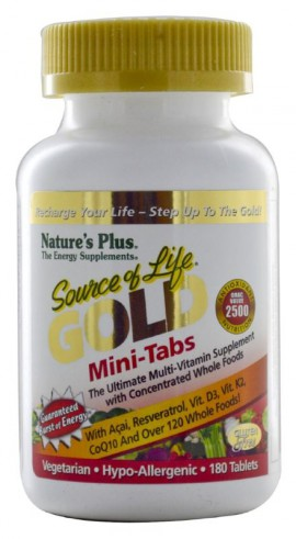 NATURES PLUS Source OF Life Gold Mini-180 Tablets