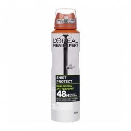 L Oreal Paris Men Expert Shirt Protect Spray, 48ωρη ολική προστασία ενάντια στον ιδρώτα, τους λευκούς & κίτρινους λεκέδες 150ml