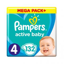 Pampers Active Baby Mega Pack No.4 (9-14kg) 132 Πάνες