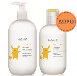 Babe Pediatric Bath Gel 500ml + ΔΩΡΟ Babe Pediatric Extra Mild Shampoo 200ml
