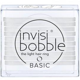 Invisibobble Basic Light Hair Ring Crystal Clear Λαστιχάκια Μαλλιών με Διάφανο Χρώμα 10τμχ