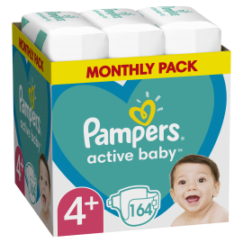 Pampers Active Baby Νο.4+ (10-15kg) 164τμχ
