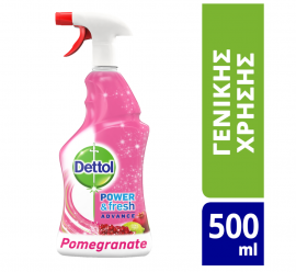 Dettol Power & Fresh Advance Αντιβακτηριδιακό Pomegranate & Lime 500ml
