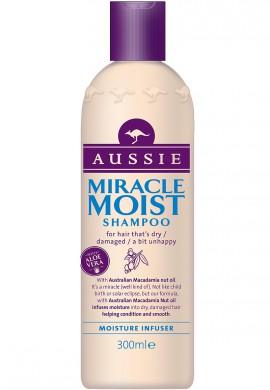 AUSSIE Miracle Moist Shampoo Σαμπουάν για τα ξηρά, αφυδατωμένα & κατεστραμμένα μαλλιά 300ml