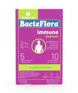 Holistic Med Bacteflora Immune Maximum 30 φυτοκάψουλες