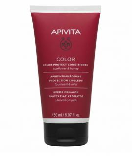 Apivita Μαλακτική Κρέμα Προστασίας Χρώματος για Βαμμένα Μαλλιά Ηλίανθος & Μέλι 150ml