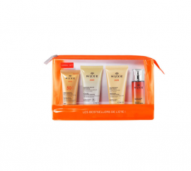 Nuxe Sun Summer Bestsellers Set Melting cream Face SPF50 30ml + Nuxe Sun After Sun Hair & Body Shampoo 50ml + Nuxe Sun Refreshing After Sun Face and Body Lotion 50ml + Nuxe Sun Delecious Fragrant Water 30ml