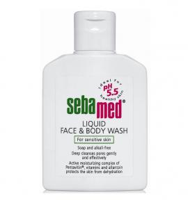 SEBAMED LIQUID WASH FACE & BODY 200ML
