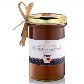 Am Health Smile Flowers Honey With Carob Βιολογικό Μέλι Ανθέων με Χαρούπι 410gr