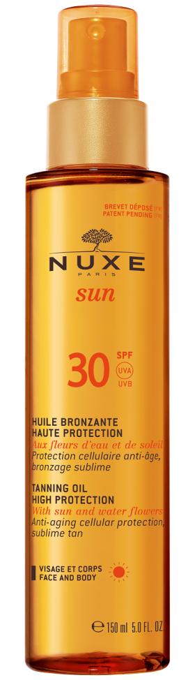 Nuxe Tanning Oil High Protection SPF30 Λάδι Μαυρίσματος για Πρόσωπο & Σώμα 150ml