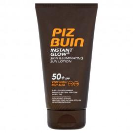 Piz Buin Instant Glow Skin Illuminating Sun Lotion SPF50+ Αντηλιακό Γαλάκτωμα υψηλής προστασίας 150ml