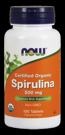Now Foods Spirulina 500mg 100tabs