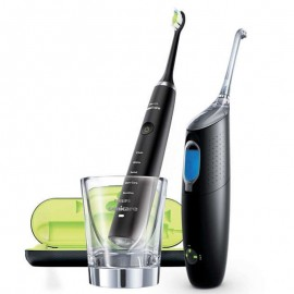 Philips Sonicare Set Diamand Clean Black & Sonicare Air Floss Ultra Black HX8491/03