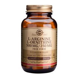 SOLGAR L-ARGININE- L-ORNITHINE VEG.CAPS 50S