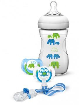 AVENT Elephant Σετ Δώρου με Μπλε Ελεφαντάκια SCD627/01