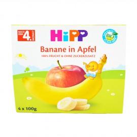 HIPP Φρουτοκαπάκια Μήλο Μπανάνα 4ο Μήνα 4 x 100g