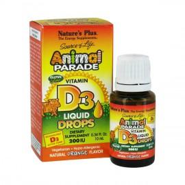 NATURES PLUS Animal Parade Vitamin D3 Drops Πόσιμες Σταγόνες με Γεύση Πορτοκάλι 10ml