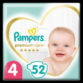 Pampers Premium Care Νο.4 (9-14 Kg) 52 Πάνες