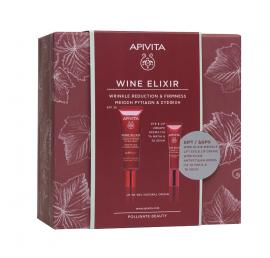 Apivita Set Wine Elixir Anti-Wrinkle Day Cream SPF30 40ml + Δώρο Apivita Wine Elixir Wrinkle Lift Eye & Lip Cream 15ml