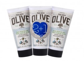 Korres set Pure Greek Olive Κρέμα Χεριών Θαλασσινό Αλάτι 75ml 2+1 Δώρο