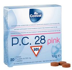 COSVAL ΦΥΤΙΚΟ ΠΑΥΣΙΠΟΝΟ P.C. 28 PINK 20 tabs (για γυν)