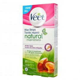 Veet Natural Inspirations Κρύο Κερί Όλους τους Τύπους Δέρματος 20τμχ