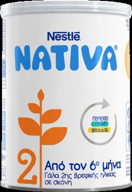 Nestle Nativa 2 Γάλα 2ης Βρεφικής Ηλικίας σε Σκόνη 400gr