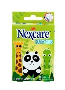 Nexcare Happy Kids Παιδικοί Αυτοκόλλητοι Μικροεπίδεσμοι Ζωάκια 20τμχ